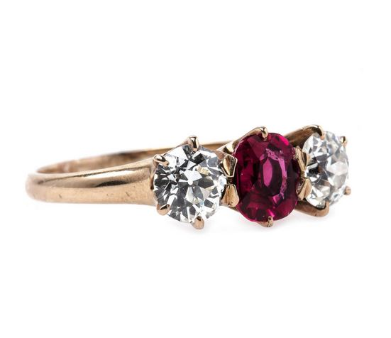 Victorian Vintage trilogy engagement ring