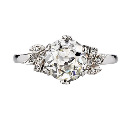 Victorian Vintage solitaire engagement ring