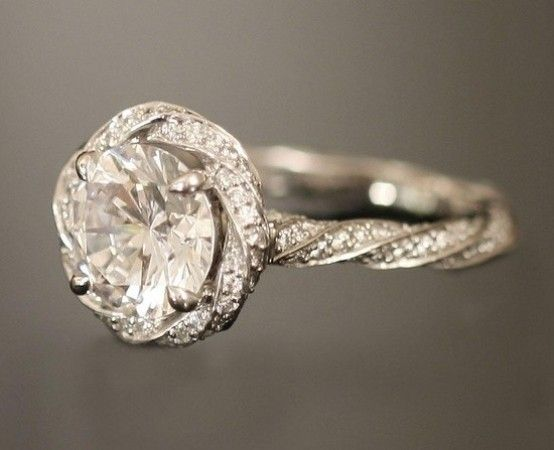 Twisted Band Engagement Rings