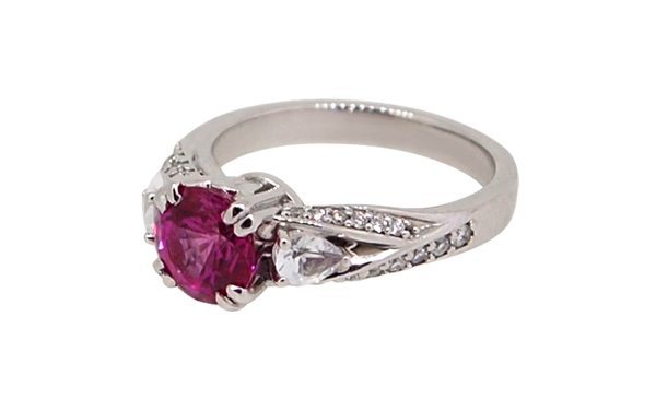 Chatham sapphire dress ring