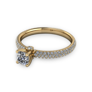 "<a href=""/book-now-bespoke-ring?context=	Cushion cut diamond with pave band	"">	</a>	Cushion cut diamond with pave band"