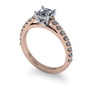 """<a href=""""/book-now-bespoke-ring?context=14kt rose gold ascher cut diamond ring""""></a>14kt rose gold ascher cut diamond ring"""