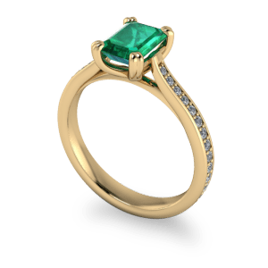 """<a href=""""/book-now-bespoke-ring?context=Emerald and diamond vintage style ring""""></a>Emerald and diamond vintage style ring"""