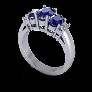 Beautiful sapphire eternity ring