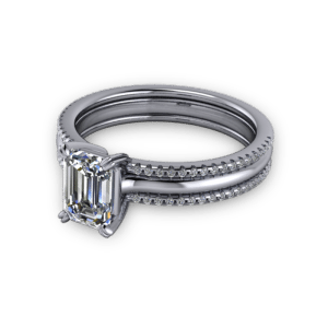 """<a href=""""/book-now-bespoke-ring?context=Multistrand emerald engagement ring""""></a>Multistrand emerald engagement ring"""