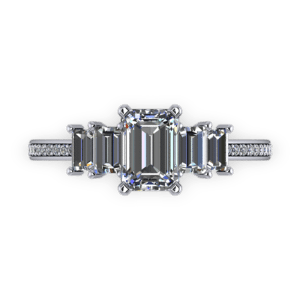 """<a href=""""/book-now-bespoke-ring?context=Five stone emerlad cut diamond ring""""></a>Five stone emerlad cut diamond ring"""