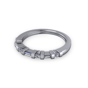 Bar set diamond eternity ring