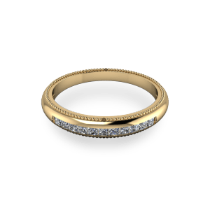 """<a href=""""/book-now-bespoke-ring?context=Yellow gold princess cut eternity band""""></a>Yellow gold princess cut eternity band"""