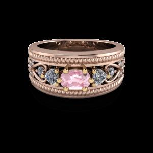 18kt rose  gold cocktail ring