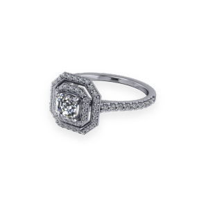 """<a href=""""/book-now-bespoke-ring?context=Asscher Cut Double Halo Diamond Ring""""></a>Asscher Cut Double Halo Diamond Ring"""