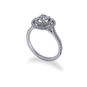 """<a href=""""/book-now-bespoke-ring?context=Modern Round Brilliant Cut Double Halo Ring""""></a>Modern Round Brilliant Cut Double Halo Ring"""