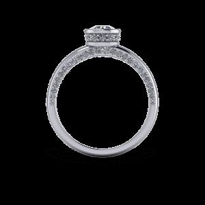 Encrusted bezel set engagement ring