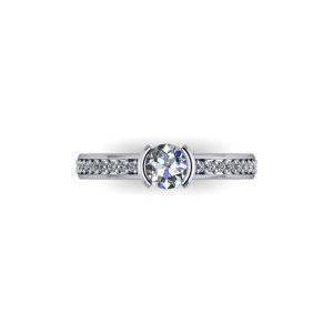 """<a href=""""/book-now-bespoke-ring?context=Diamond set band with centre bezel""""></a>Diamond set band with centre bezel"""