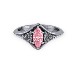 """<a href=""""/book-now-bespoke-ring?context=Pink marquis trilogy ring""""></a>Pink marquis trilogy ring"""