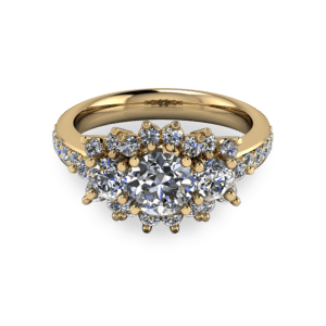 "<a href=""/book-now-bespoke-ring?context=	Gold trilogy halo ring	"">	</a>	Gold trilogy halo ring"