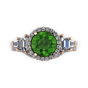 """<a href=""""/book-now-bespoke-ring?context=Tourmaline diamond halo rose gold engagement ring set""""></a>Tourmaline diamond halo rose gold engagement ring set"""