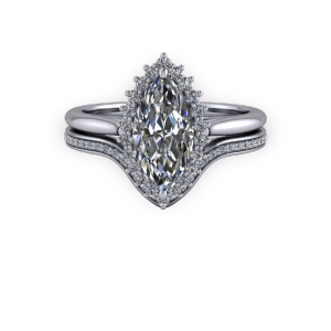 """<a href=""""/book-now-bespoke-ring?context=Vintage Marquise diamond halo engagement ring set""""></a>Vintage Marquise diamond halo engagement ring set"""