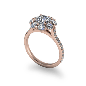 """<a href=""""/book-now-bespoke-ring?context=Rose Gold Traditional vintage halo engagement ring""""></a>Rose Gold Traditional vintage halo engagement ring"""