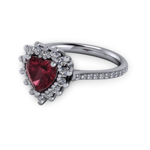 """<a href=""""/book-now-bespoke-ring?context=Antique Vintage Garnet and platinum heart engagement ring""""></a>Antique Vintage Garnet and platinum heart engagement ring"""