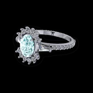 "<a href=""/book-now-bespoke-ring?context=Aquamarine unusual vintage diamond platinum engagement ring""></a>Aquamarine unusual vintage diamond platinum engagement ring"