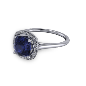 """""""<a href=""""""""/book-now-bespoke-ring?context=White gold and Sapphire diamond halo commitment ring""""""""></a>White gold and Sapphire diamond halo commitment ring"""""""
