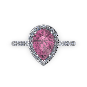 "<a href=""/book-now-bespoke-ring?context=	Pink tourmaline pear diamond and platinum halo birthstone engagement ring	"">	</a>	Pink tourmaline pear diamond and platinum halo birthstone engagement ring"