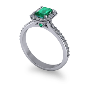 """<a href=""""/book-now-bespoke-ring?context=Beautiful emerald halo ring""""></a>Beautiful emerald halo ring"""