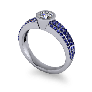 "<a href=""/book-now-bespoke-ring?context=	Sapphire pave band with round diamond	"">	</a>	Sapphire pave band with round diamond"