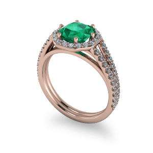 "<a href=""/book-now-bespoke-ring?context=	Radiant cut emerald rose gold diamond halo commitment ring	"">	</a>	Radiant cut emerald rose gold diamond halo commitment ring"