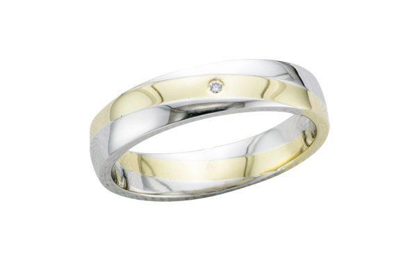 Men's two colour proposal ring