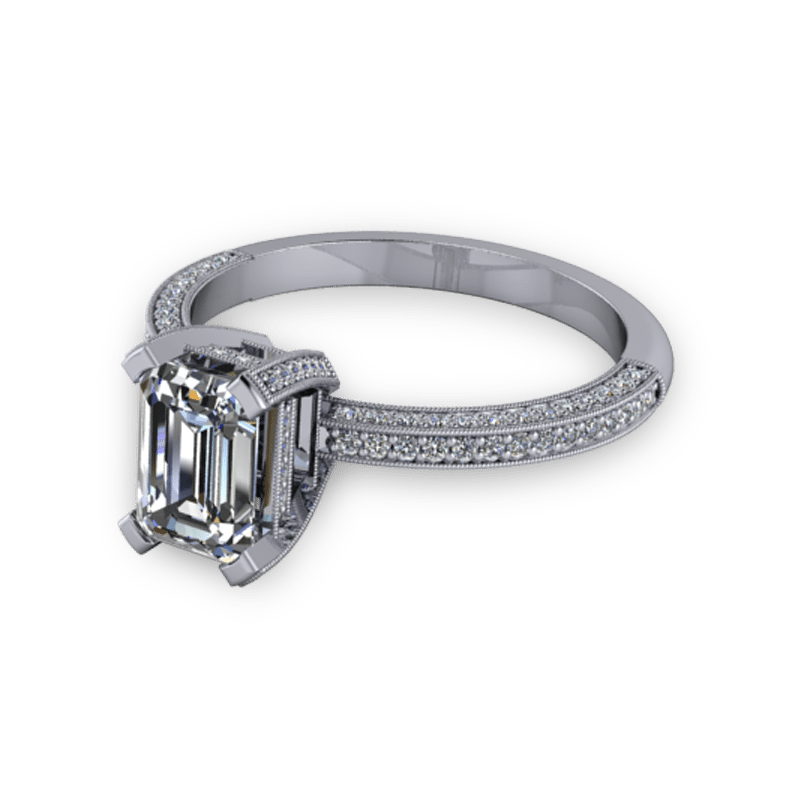 Vintage Style Emerald Cut Ring