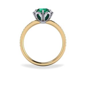 "<a href=""/book-now-bespoke-ring?context=Emerald cluster style ring""></a>Emerald cluster style ring"