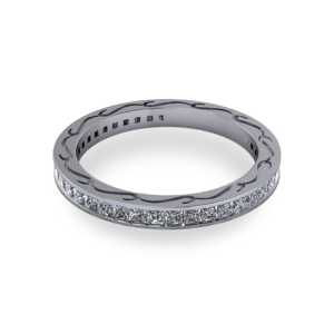 Pierced side eternity ring