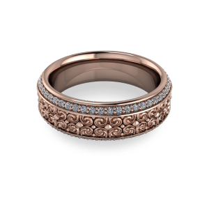 Filigree eterninty ring