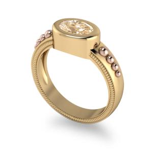 "<a href=""/book-now-bespoke-ring?context=Bezel set oval with rose beading""></a>Bezel set oval with rose beading"