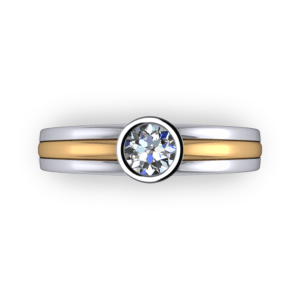 """<a href=""""/book-now-bespoke-ring?context=Two tone bezel set solitaire""""></a>Two tone bezel set solitaire"""