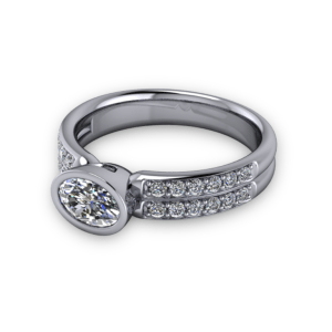 "<a href=""/book-now-bespoke-ring?context=Bezel set oval with diamond shoulders""></a>Bezel set oval with diamond shoulders"