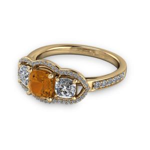 "<a href=""/book-now-bespoke-ring?context=Cognac diamond unique halo engagement ring""></a>Cognac diamond unique halo engagement ring"