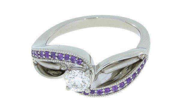 Bespoke Designer Flower Style Engagement Ring