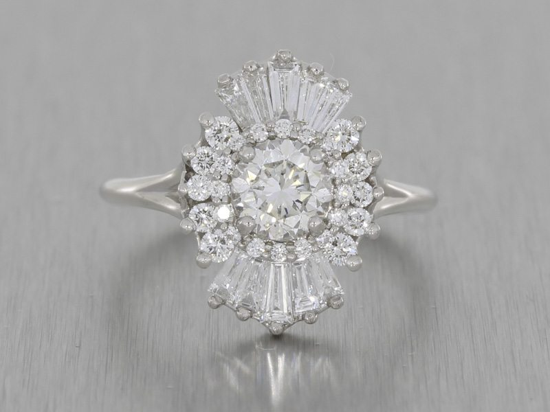 Art Deco Inspired Multi Stone Diamond Ring