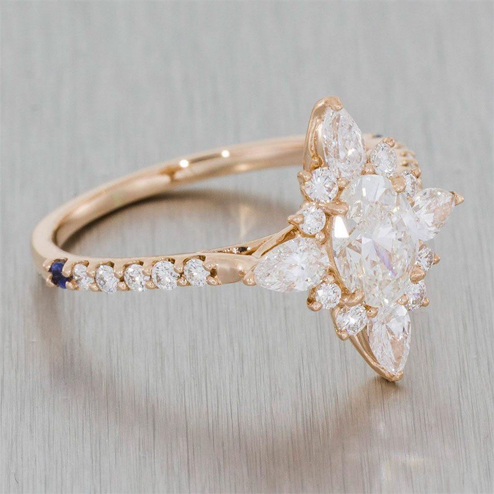 enchanting rose gold ballerina ring portfolio durham rose