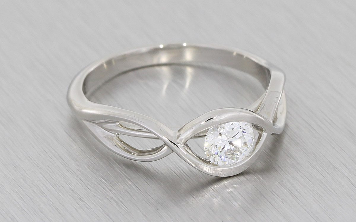 ring jewelry round engagement with halo nl diamond in platinum infinity white wg cut