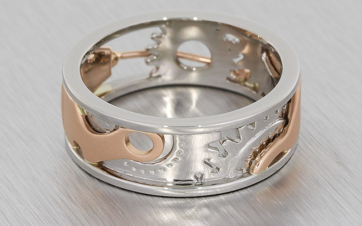 band engagement how pertaining metal ring mixed and rings work wedding to