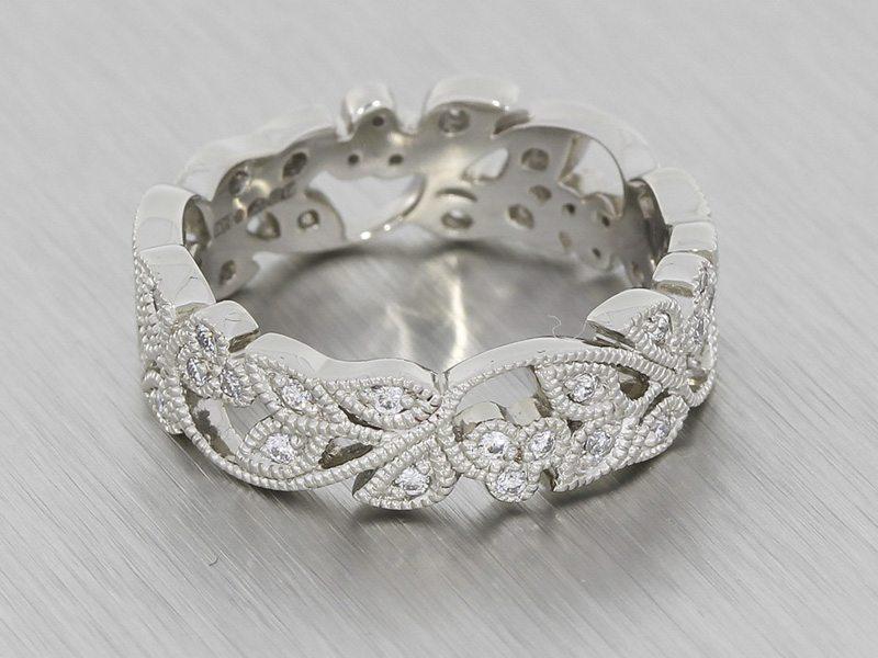 stunning-vintage-floral-style-platinum-wedding-band-with-milgrain-website-184