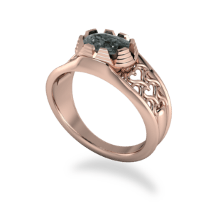 "<a href=""/book-now-bespoke-ring?context=	348-Rose-gold-and-black-diamond-filigree-ring	"">	</a>	Rose gold and black diamond filigree ring"