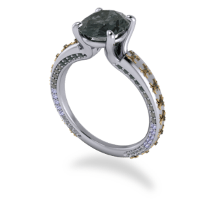 "<a href=""/book-now-bespoke-ring?context=	363-Platinum-ombre-and-black-diamond-spider-ring	"">	</a>	Platinum ombre and black diamond spider ring"