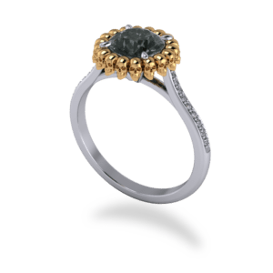 "<a href=""/book-now-bespoke-ring?context=	 366-Platinum-18k-Yellow-Gold-Black-Diamond-Skull-Halo	"">	</a>	Platinum & 18k Yellow Gold Black Diamond Skull Halo"