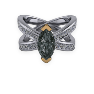 "<a href=""/book-now-bespoke-ring?context=	 372-Platinum-and-Yellow-Gold-Black-Diamond-Marquise-Ring	"">	</a>	Platinum and yellow gold black diamond marquise ring"