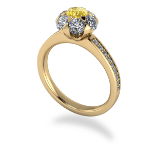 """<a href=""""/book-now-bespoke-ring?context=379-Yellow-Gold-Sunflower-Cluster-Ring""""></a>Yellow gold sunflower cluster ring"""