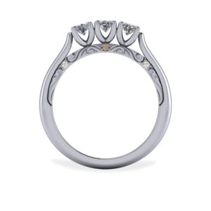 """<a href=""""/book-now-bespoke-ring?context=392-Platinum-diamond-trilogy-ring-with-engraved-scrolls-and-hidden-champagne-diamonds""""></a>Platinum diamond trilogy ring with engraved scrolls and hidden champagne diamonds"""